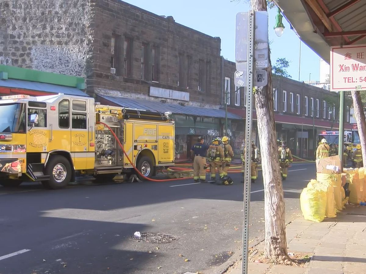 HFD puts out a 2-alarm fire at a building near Chinatown