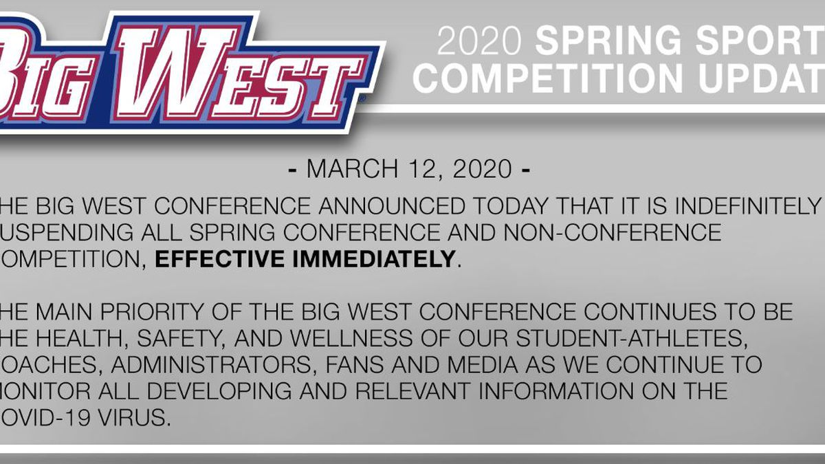 Big West Conference suspends all spring sports
