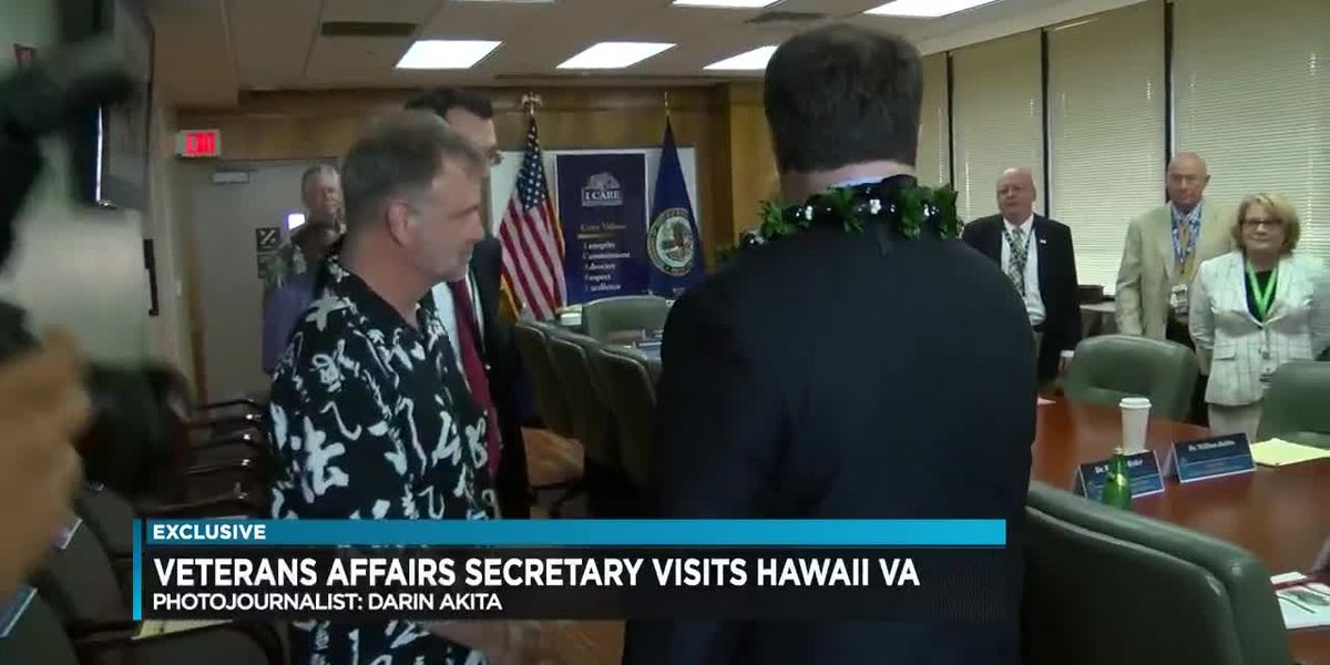 New VA Secretary offers more support for Hawaii's efforts to care for military veterans