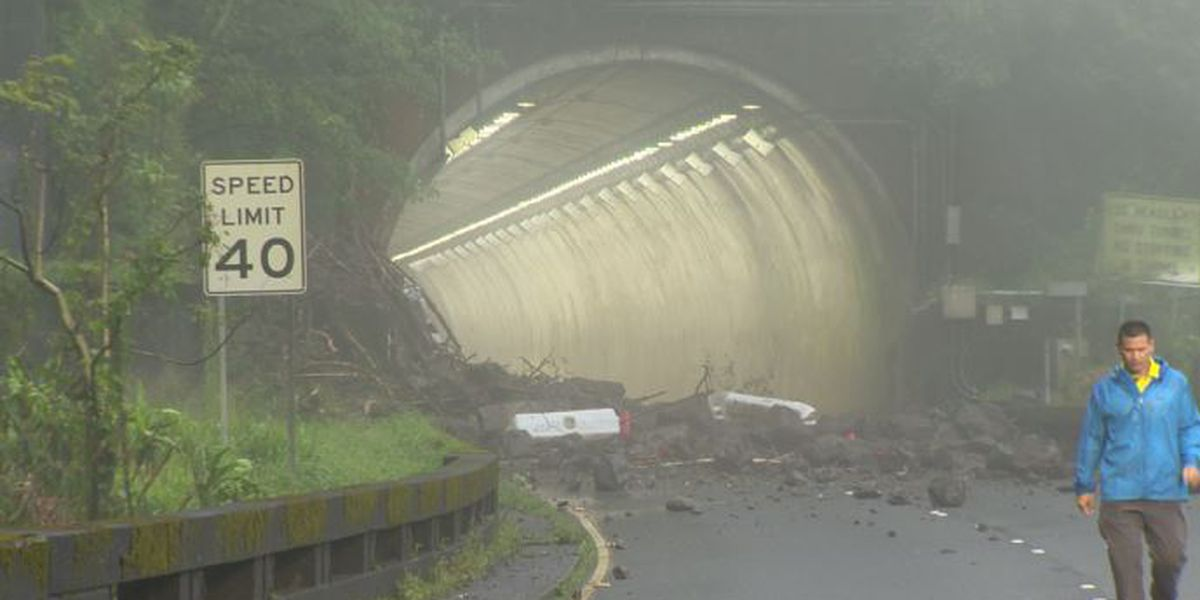 Pali Highway declared disaster area; closure ongoing