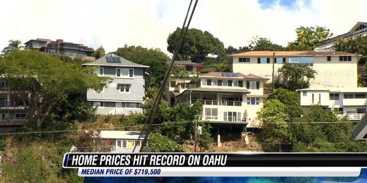 Median single-family Oahu home price tops $719K
