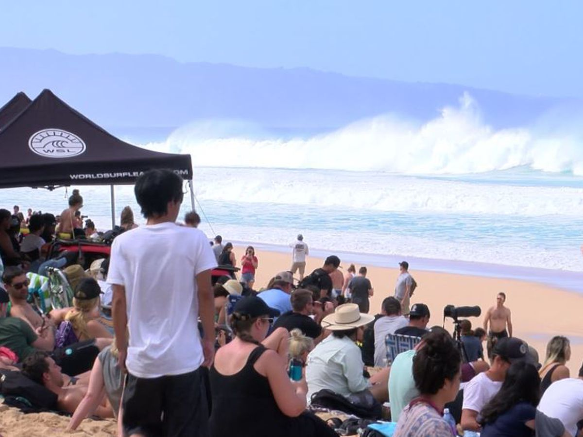 Another large swell delivers for pro surfers, and spares North Shore homeowners from erosion