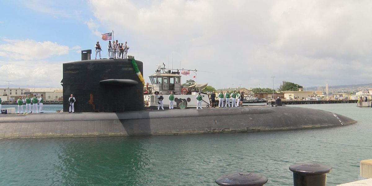 Nuclear-powered sub assigned to Pearl Harbor returns from final deployment