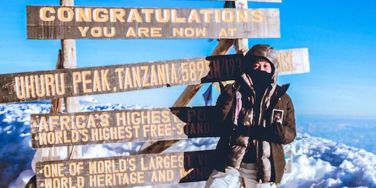 Honolulu woman climbs Africa's tallest peak in an effort to combat human trafficking