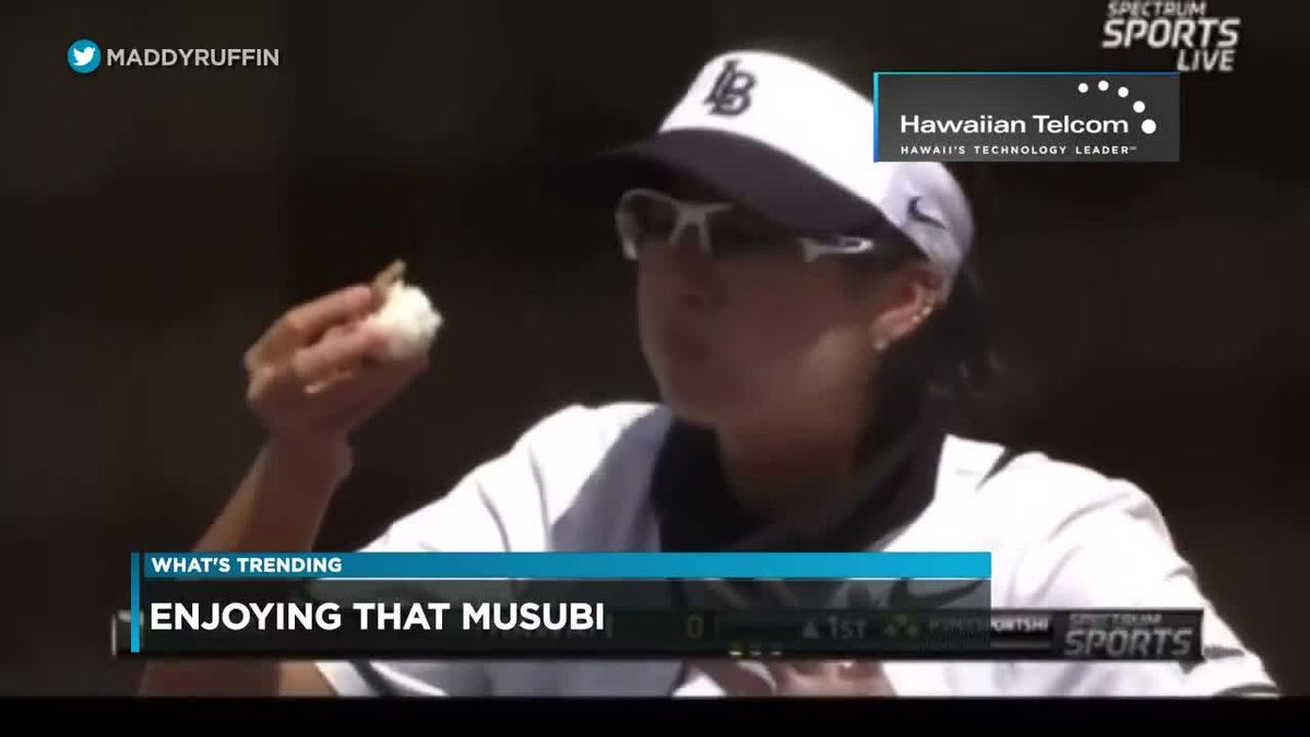 What's Trending: College softball player devours spam musubi