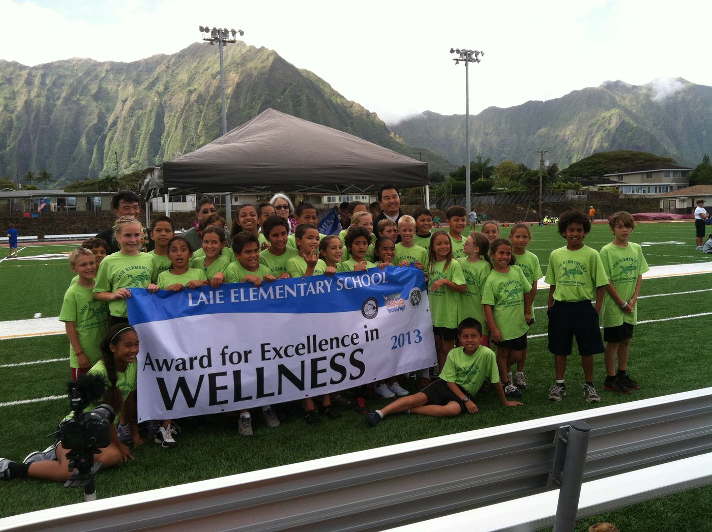 windward elementary schools win awards for health and fitness
