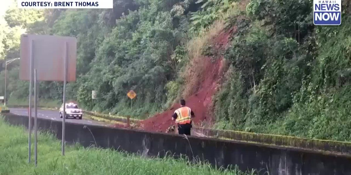 Stunning video of landslide that closed Pali Highway