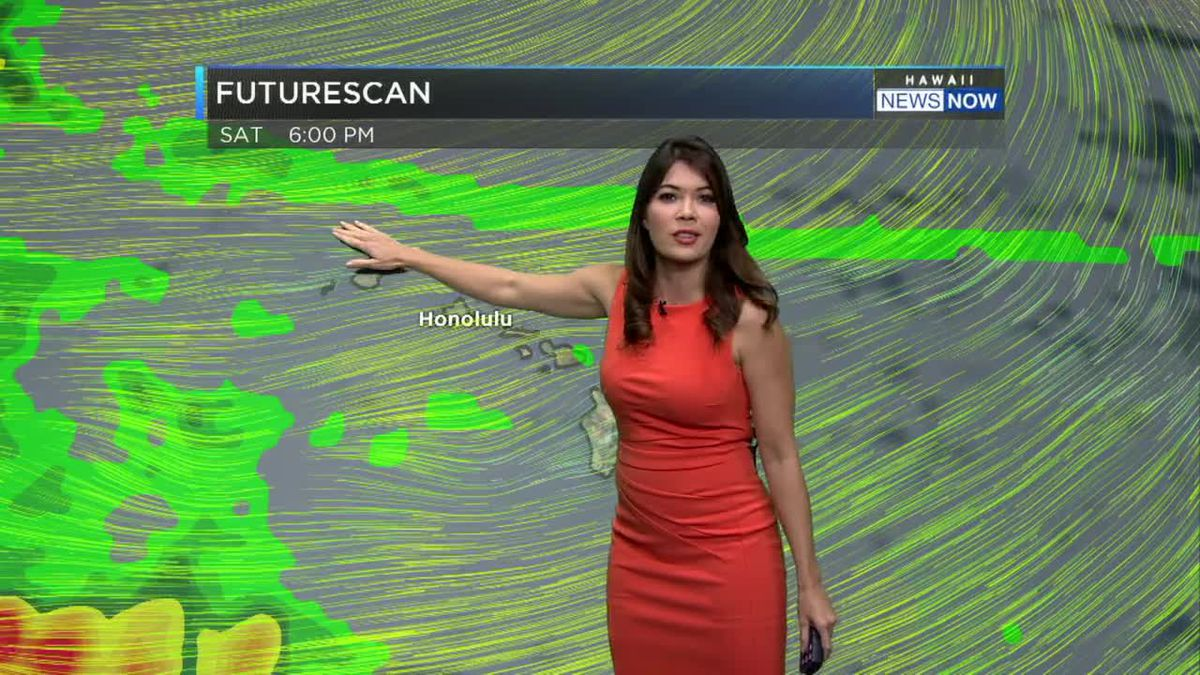 Tracking gusty trade winds for the rest of the holiday weekend