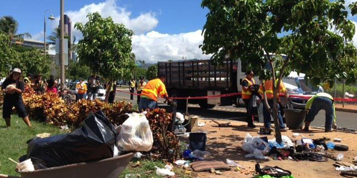 Critics say city conducted homeless sweep for 'Hawaii Five-0' shoot