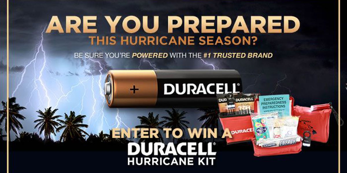 Enter for a Chance to WIN a Duracell Hurricane Kit