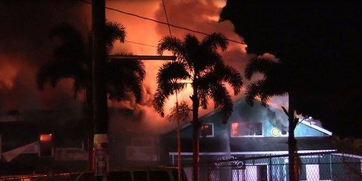 Raging fire destroys historic Akebono Theater building in Pahoa