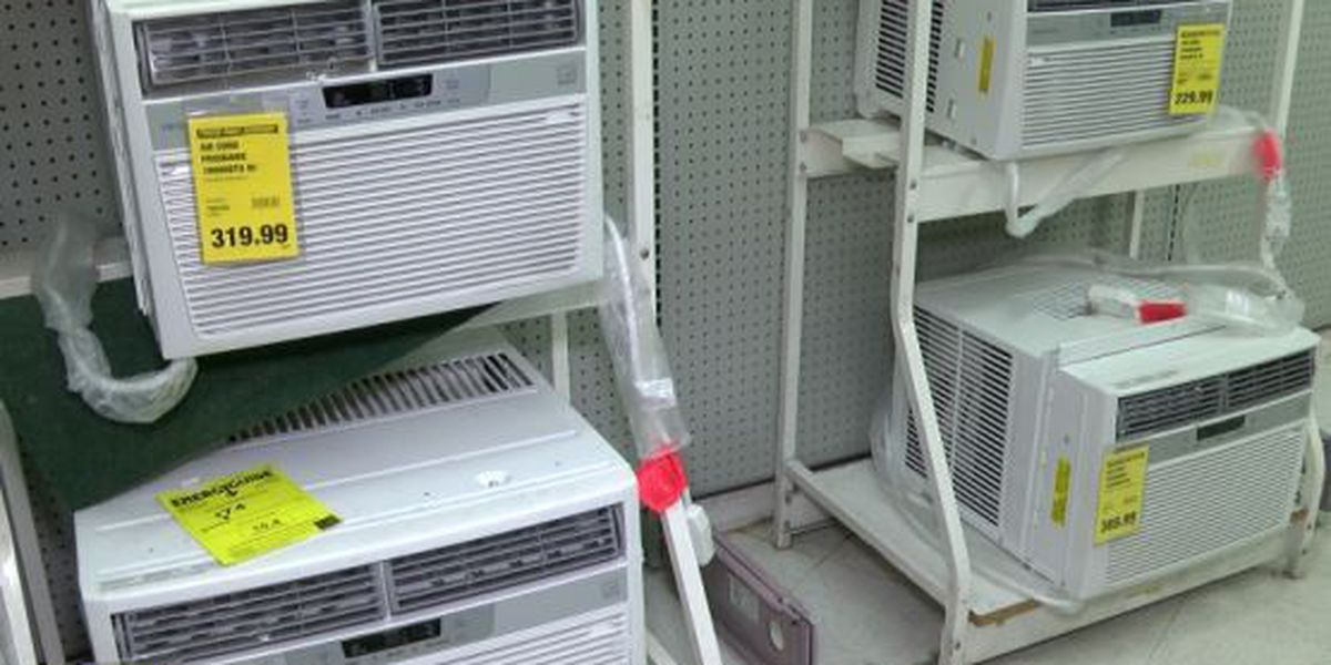 Stores see run on A/C units ahead of heat