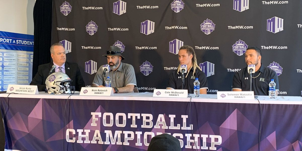 Rolovich: An 'honor' to represent Hawaii in Mountain West Championship