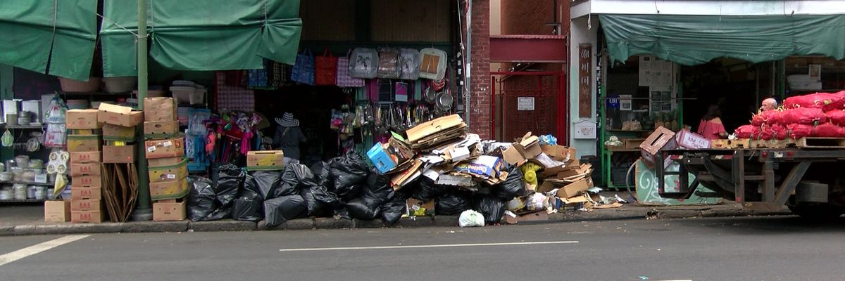 Residents: Growing piles of garbage in Chinatown may be linked to city rule change