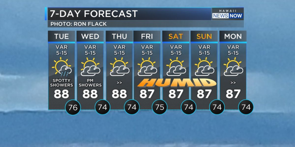 Forecast: Light winds, spotty showers to linger