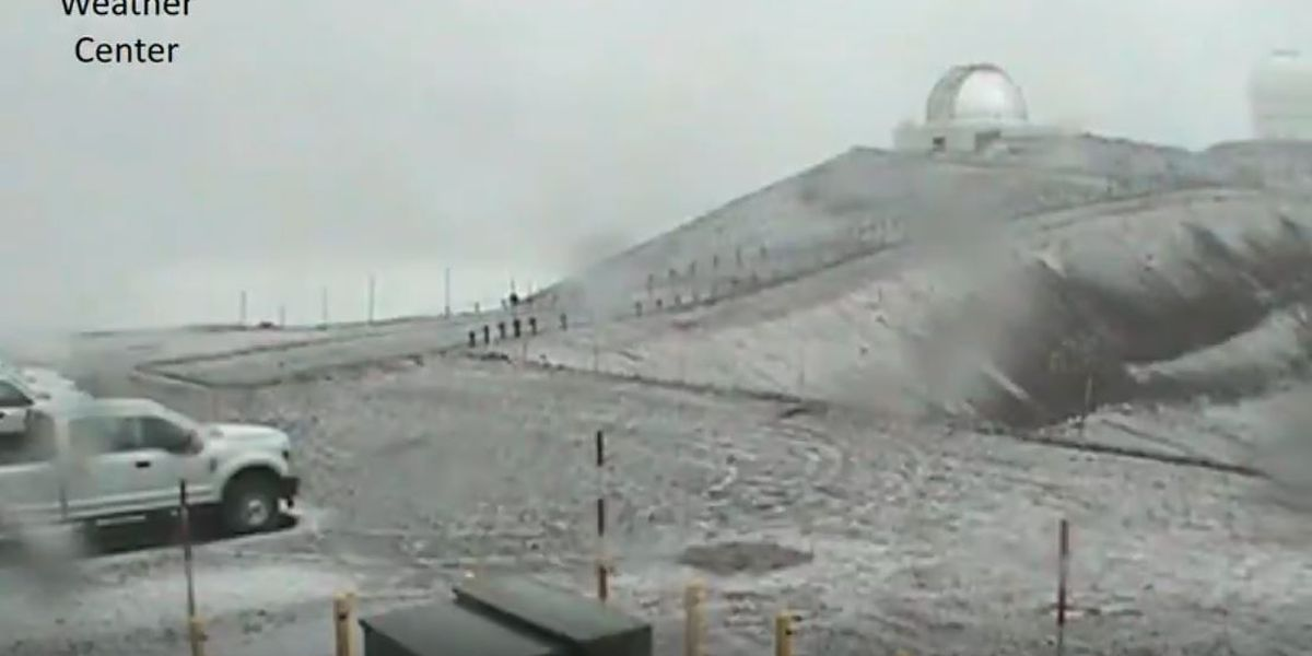 It's only October, but the snow is already falling atop Mauna Kea