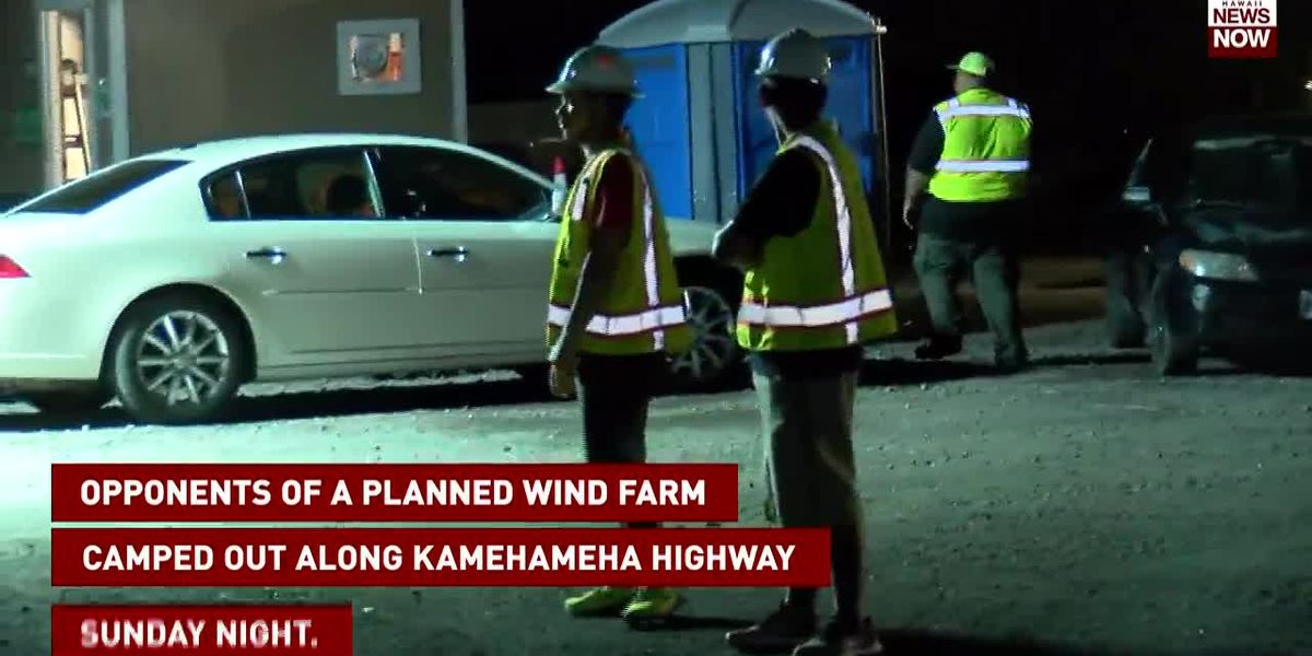 Protesters vow to return to stop construction of Kahuku wind farm