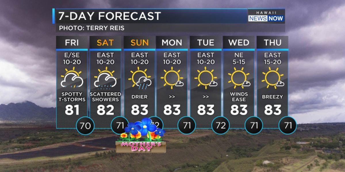 Forecast: Heavy rain, few thunderstorms still possible