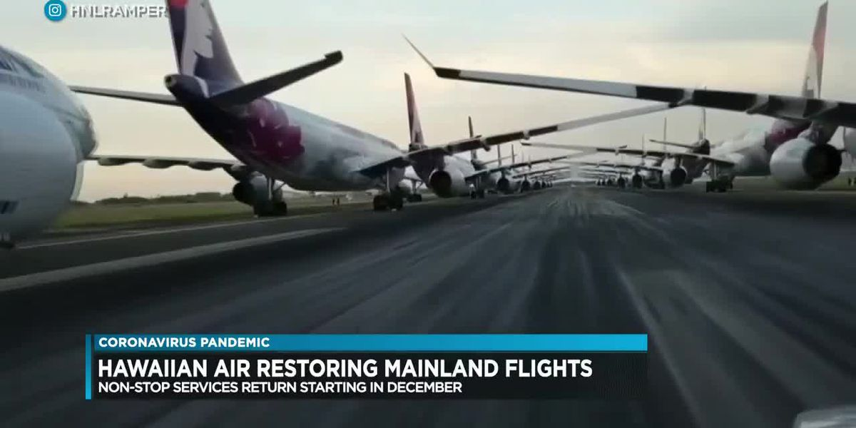 Business Report: Hawaiian Airlines to begin restoring some mainland U.S. routes