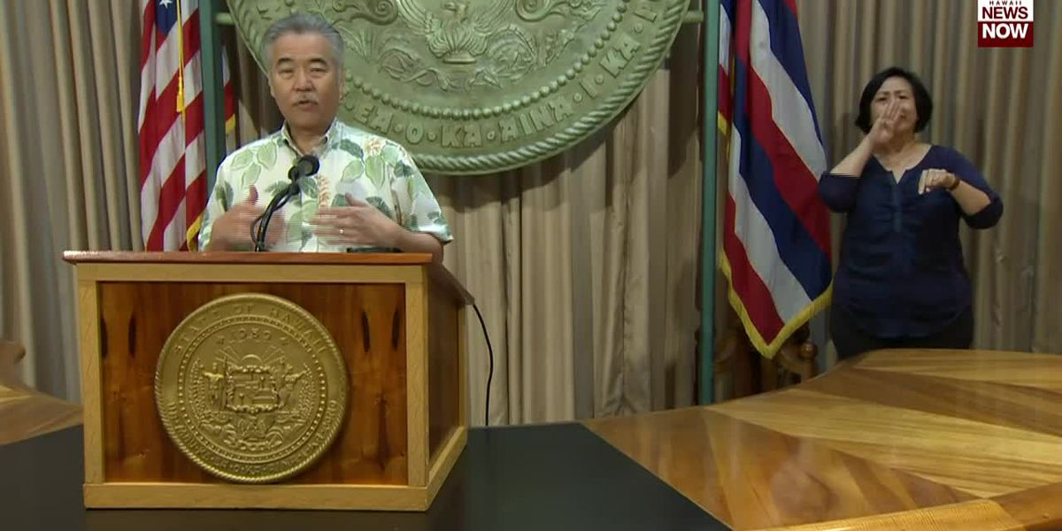 Governor Ige says the state did not open early