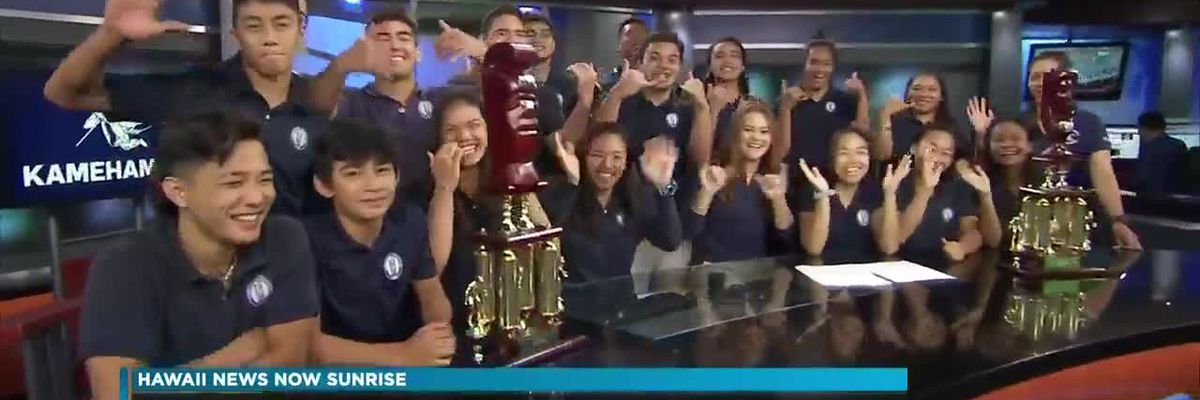 Kamehameha girls and boys wrestling teams win third state title