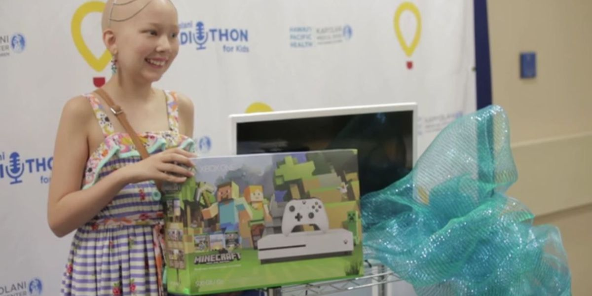 Young cancer patient surprised as Kapiolani Medical Center donations pour in