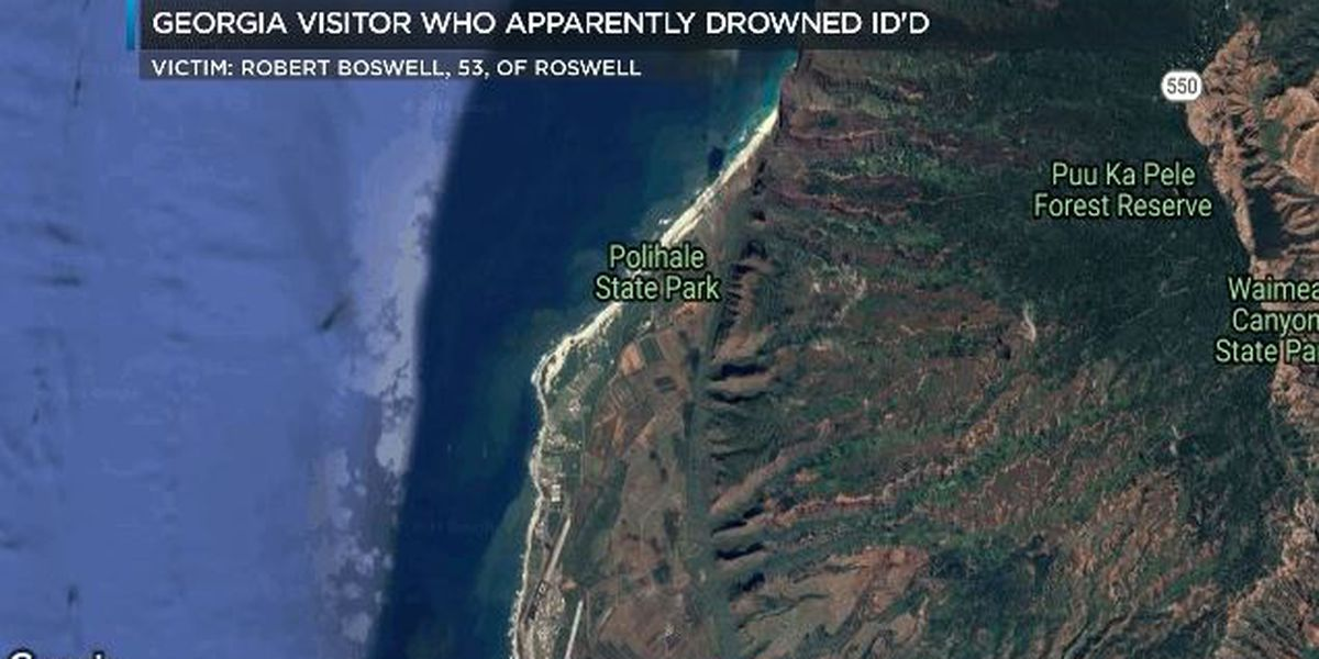 Georgia man who died in apparent drowning off Kauai identified