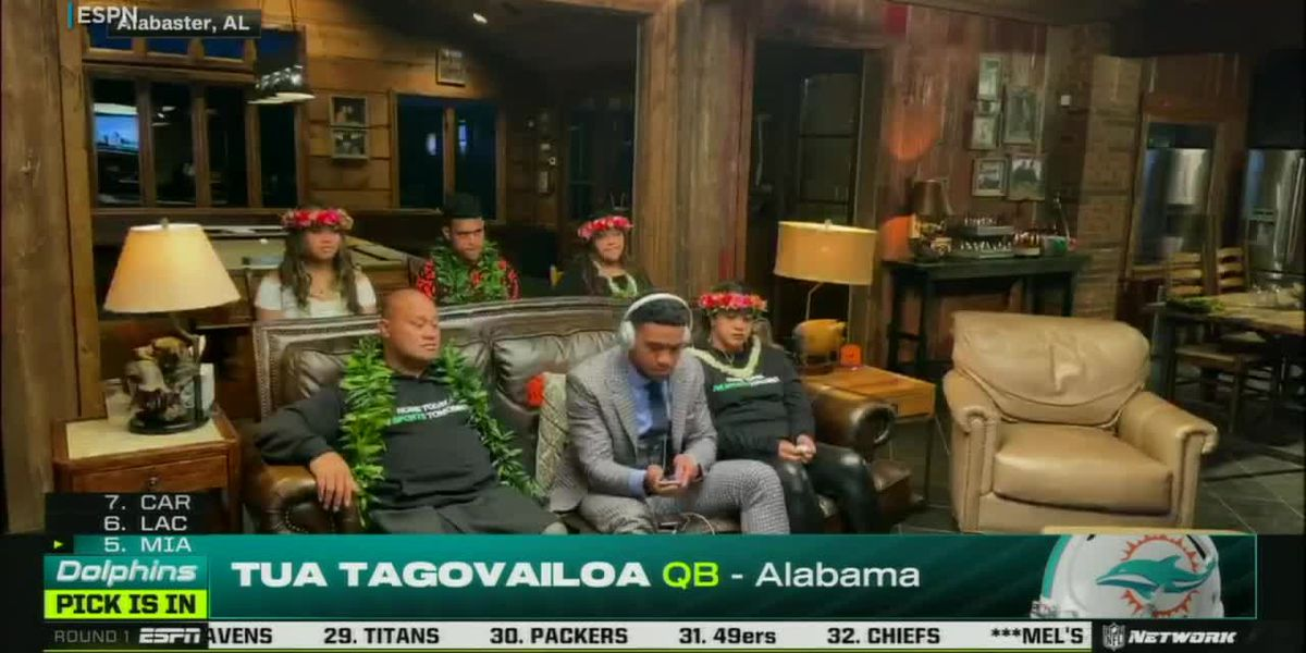 Tua Tagovailoa drafted #5 overall by Miami Dolphins