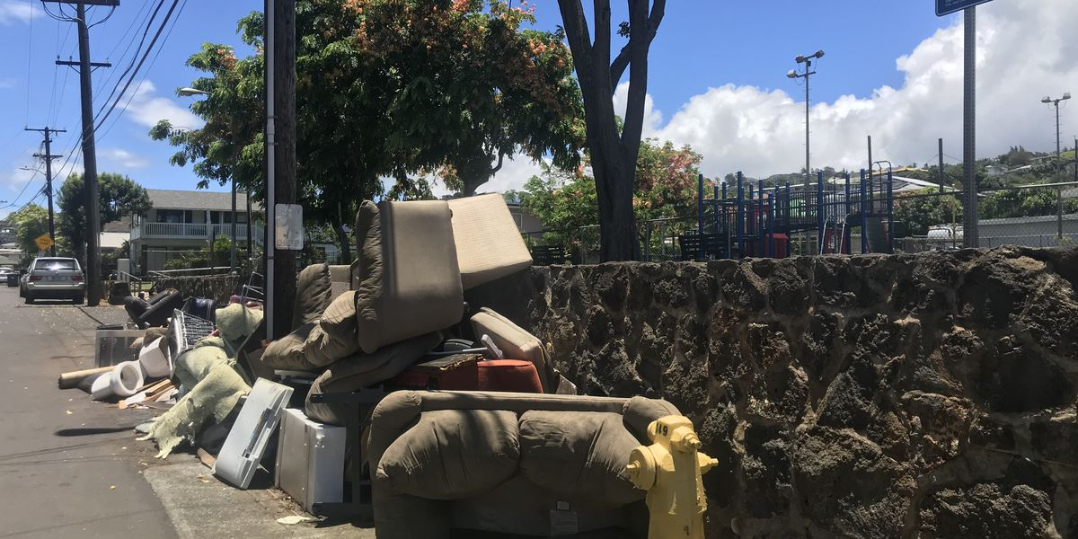 Bulky item mountains line the streets, but city still calls appointment-based system a 'success'