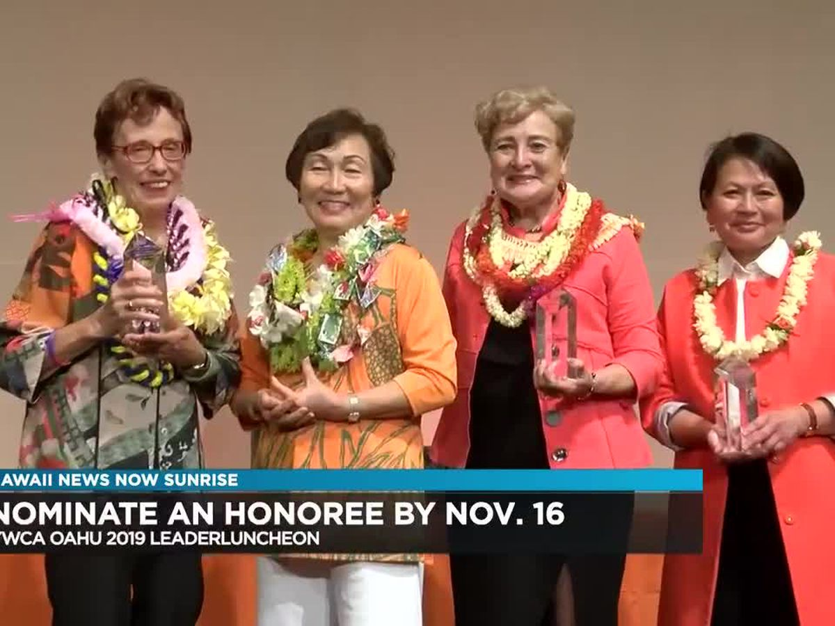 YWCA Oahu seeks honorees for 2019 Leader Luncheon
