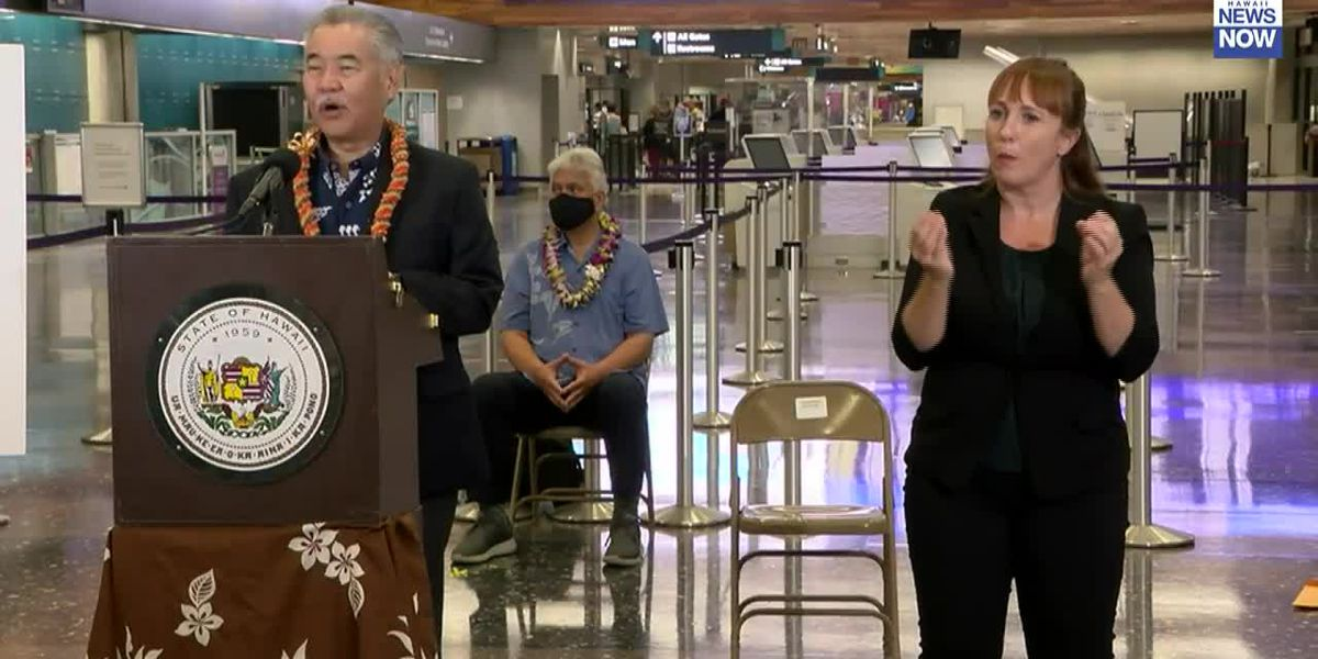 Governor Ige says they are looking at establishing pre-travel testing programs for other countries