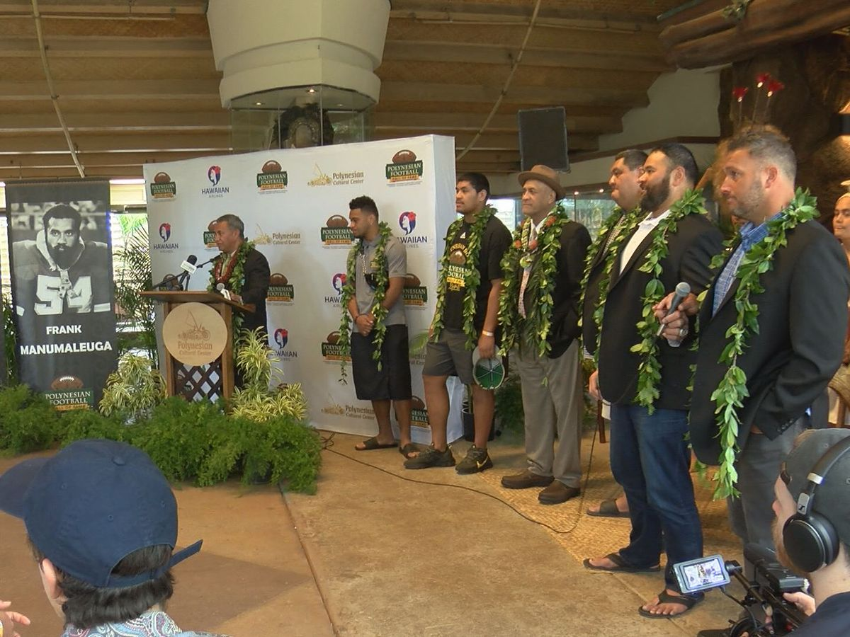 Football stars inducted into the Polynesian Football Hall of Fame