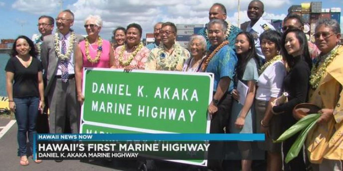 Hawaii's first-ever marine highway named after late Sen. Daniel Akaka