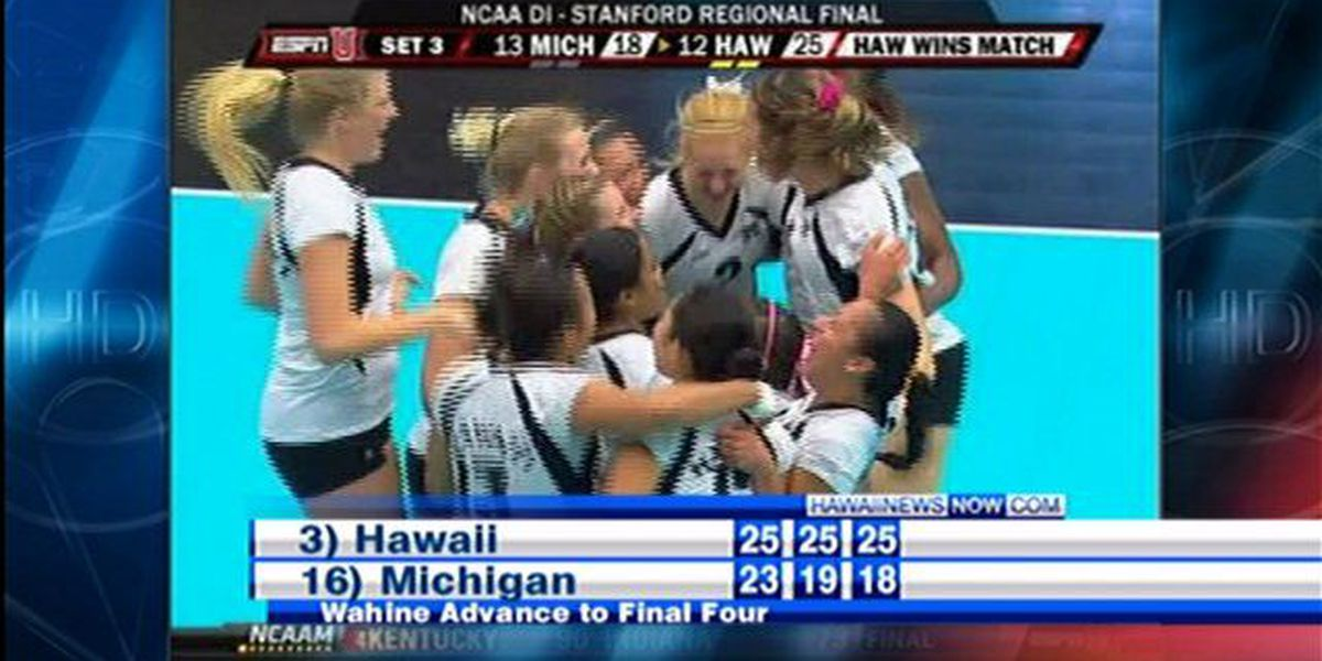 Wahine volleyball team heading to Final Four