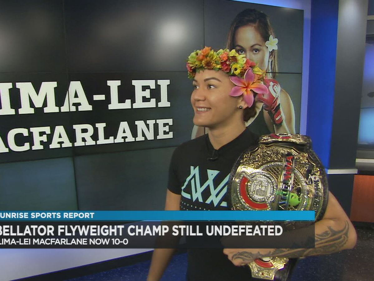 MMA champ MacFarlane back home after successful title defense