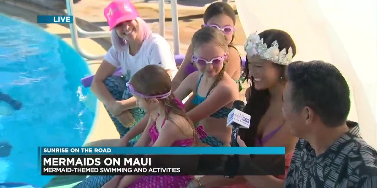 Swimming with mermaids (yes, mermaids!) in the waters off Maui!