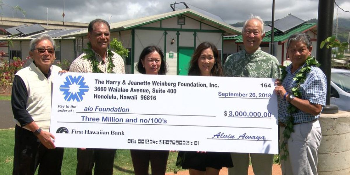 Kahauiki Village gets a large donation to benefit homeless relief efforts