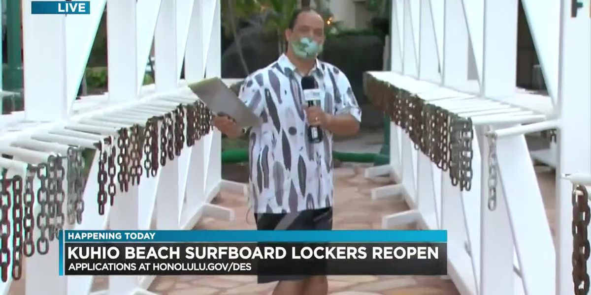 Kuhio Beach surfboard locker racks to reopen after being burned down