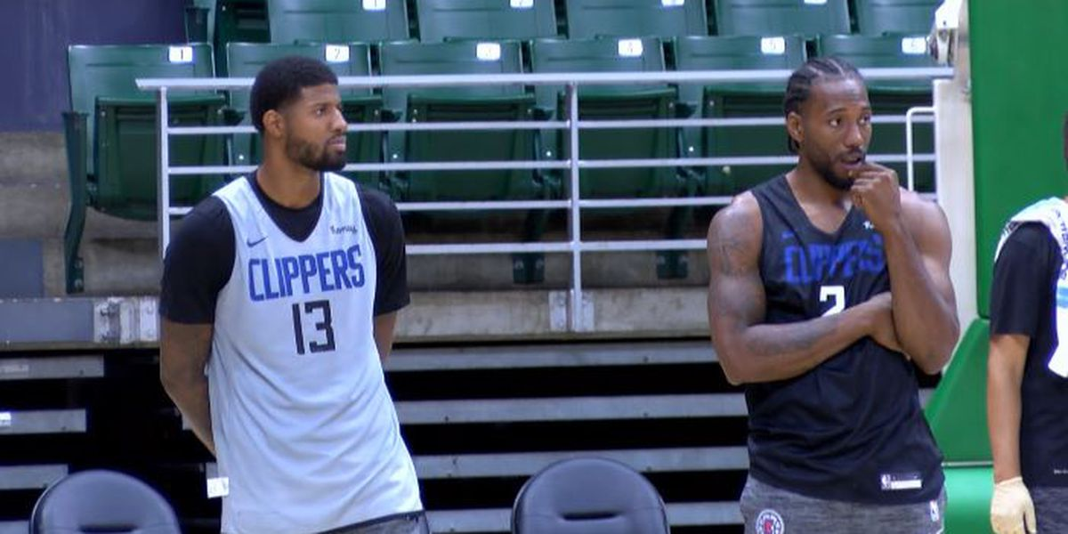Clippers hold first practice in Honolulu ahead of exhibition against Rockets