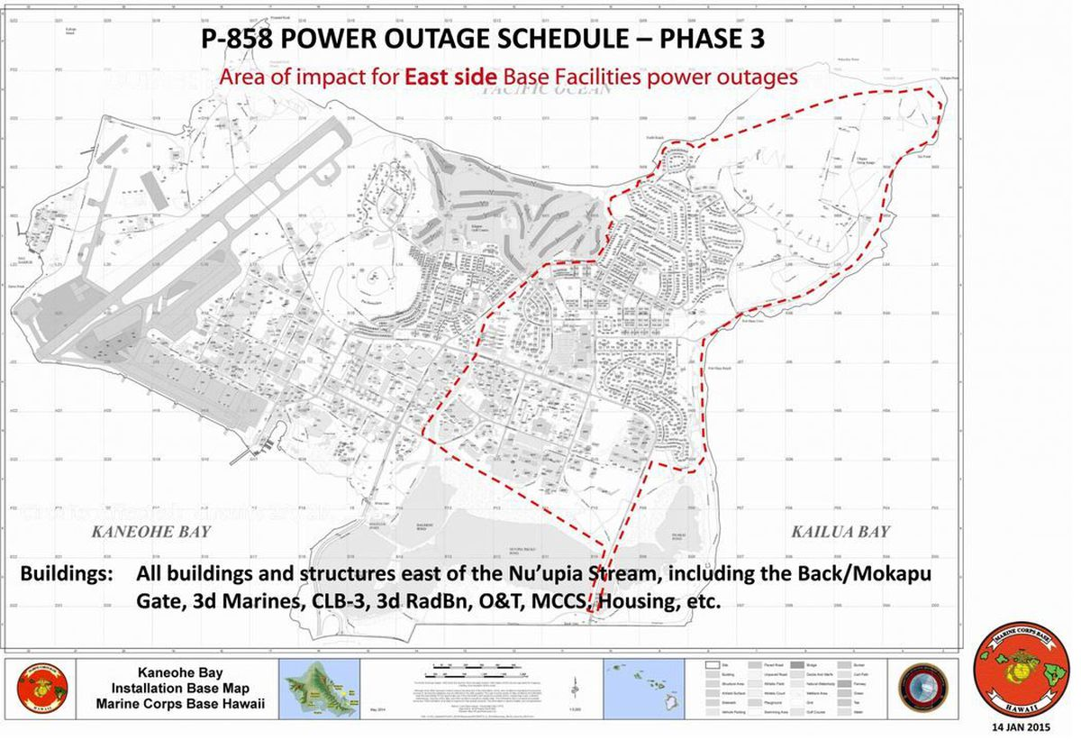 Marine Corps Base Hawaii Residents To Undergo Scheduled Power Outages