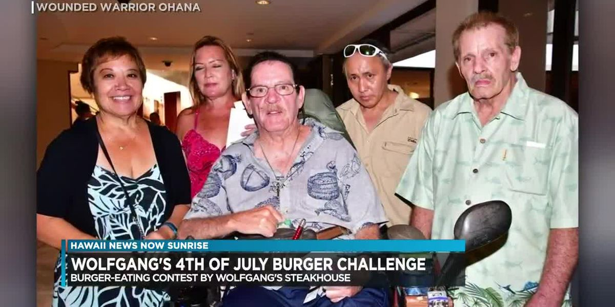 Fourth of July burger-eating contest to raise funds for Wounded Warriors Ohana