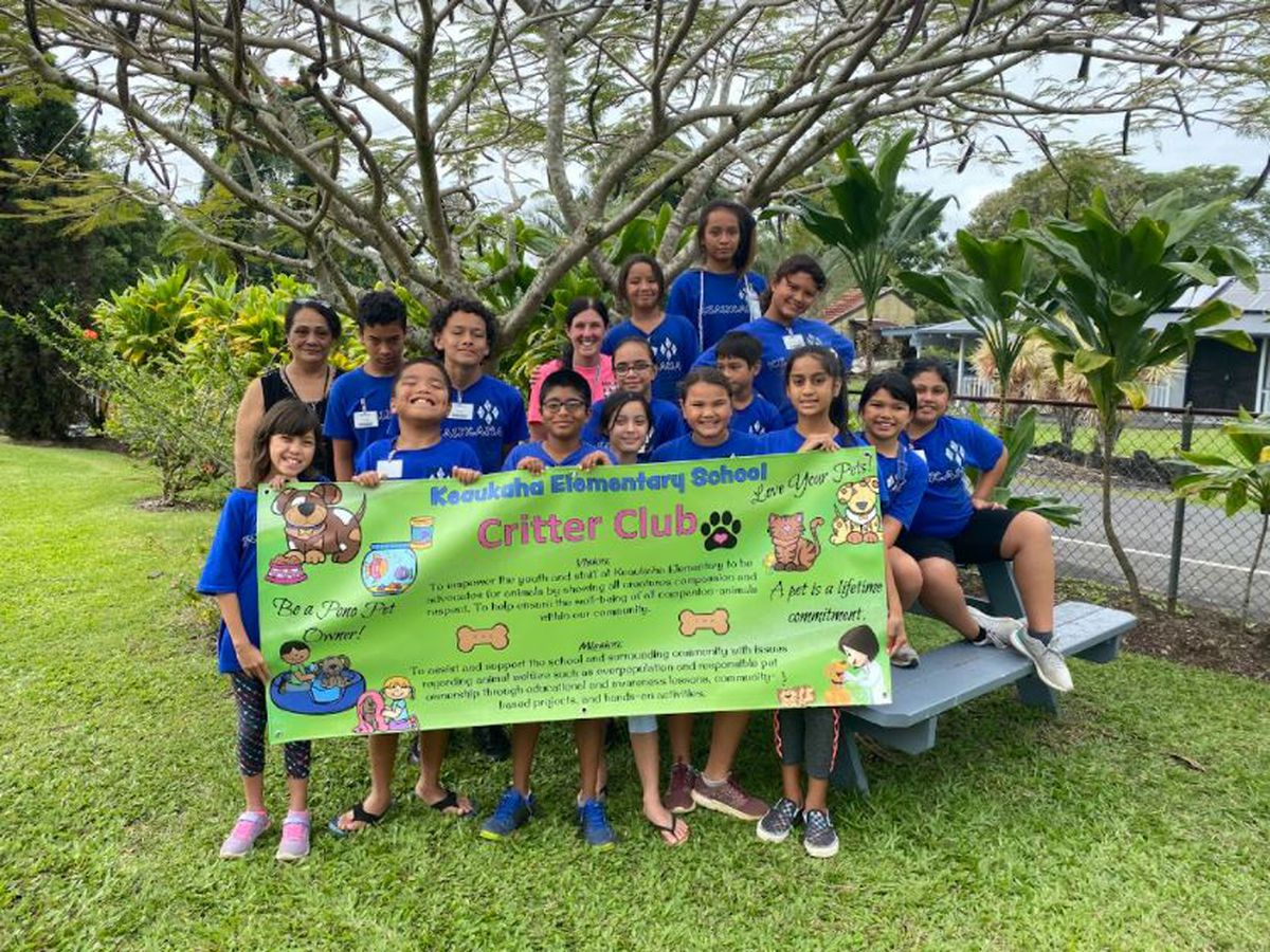 In this Hawaii Island school club, 'animals rule!' and the kids do, too