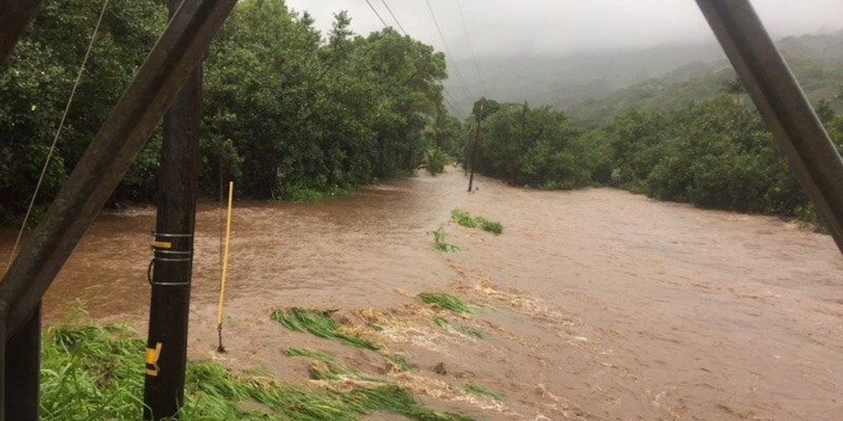 Kauai highway, school closed as heavy rains drench the island