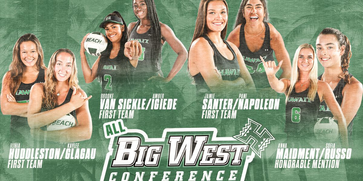 Four BeachBow pairs earn All-Big West honors, Amber Igiede named Freshman of the Year