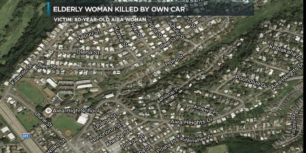 HPD: Woman, 83, dies after being hit by own car in Aiea