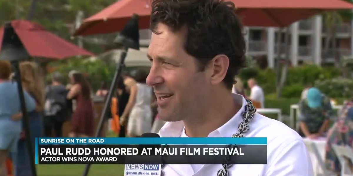 Exclusive interview with 'Avengers' star Paul Rudd | Sunrise On The Road: Maui Film Festival