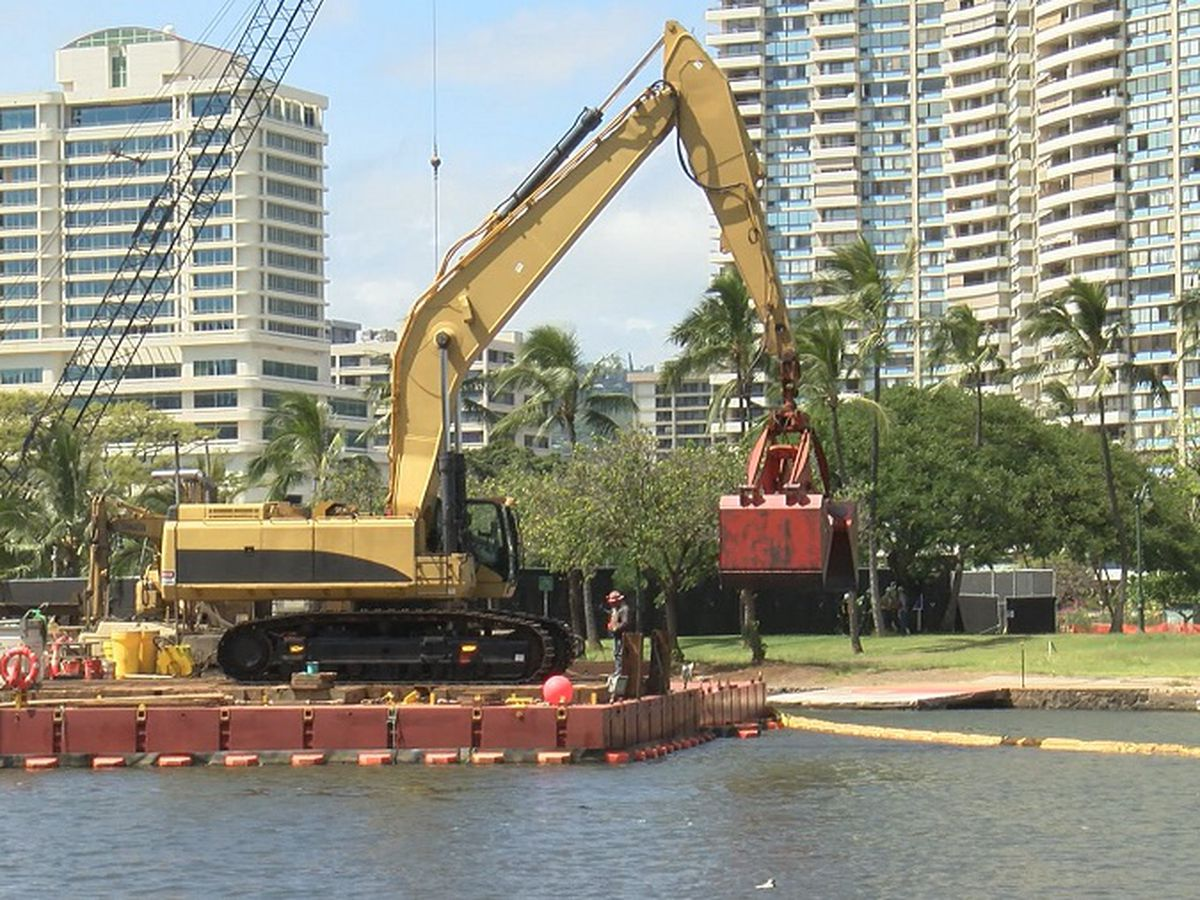In final stretch of project, Ala Wai Canal dredging work to go later into night
