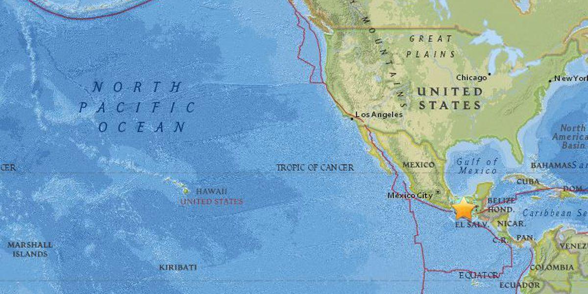 No tsunami threat to Hawaii following large quake off Mexico