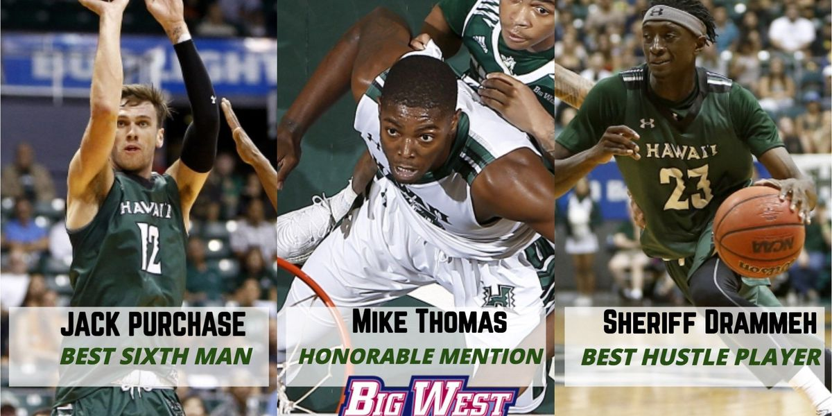 Three Rainbow Warriors earn Big West Conference honors