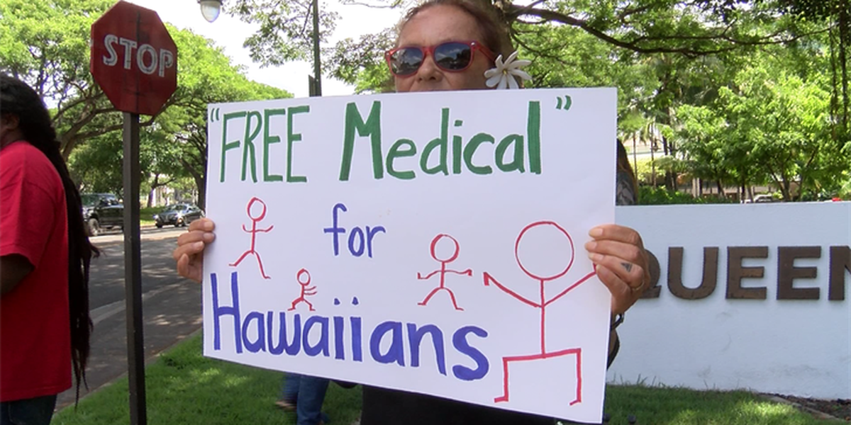 Protesters call for free health care for Native Hawaiians